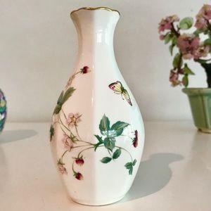 Vintage Bud Vase w/ Strawberries & Butterflies